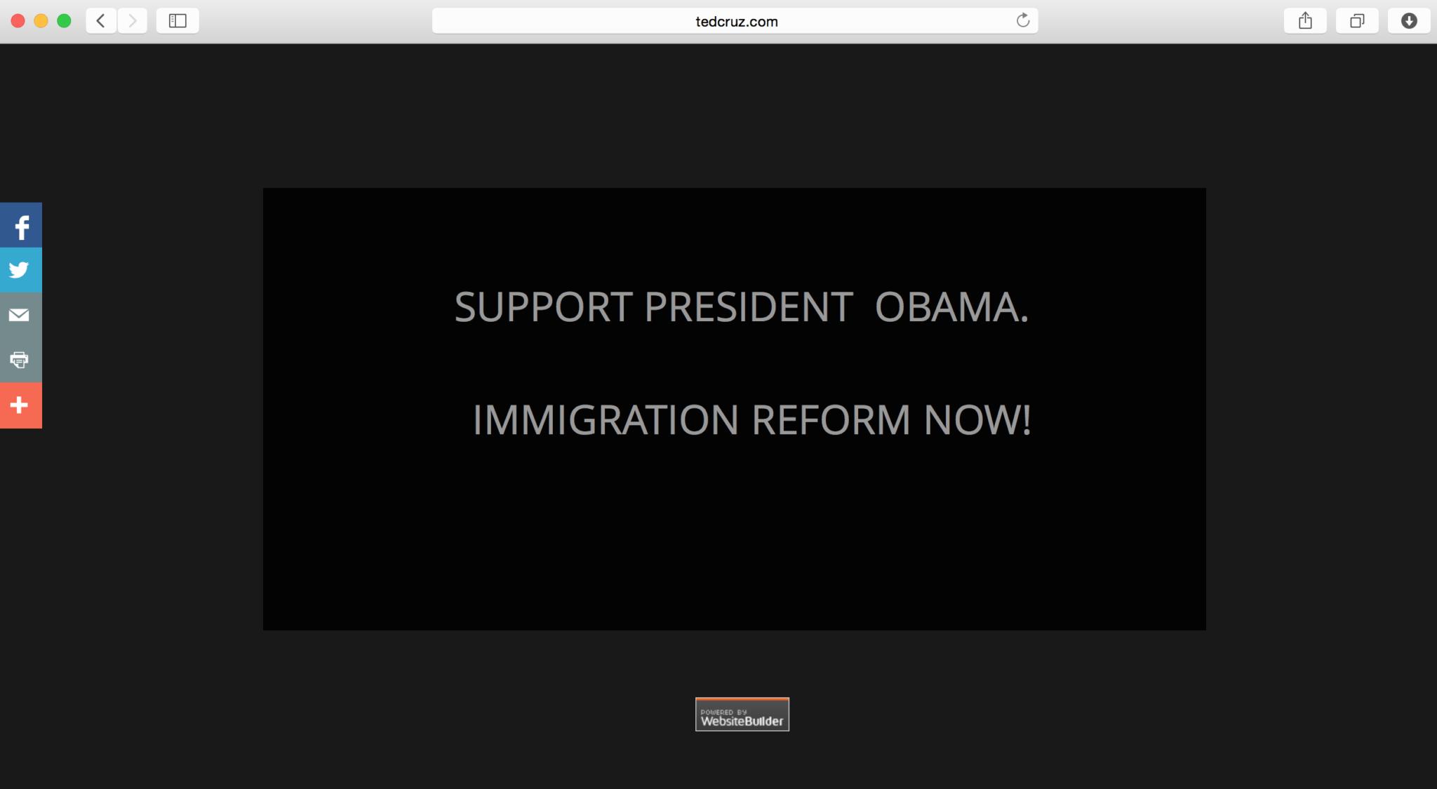 Looks Like Senator Ted Cruzs Digital Team Forgot To Secure Tedcruz