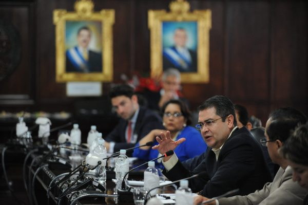 Juan Orlando Hernández, president of Honduras. Credit: Daniel Cima/CIDH (Source: Flickr)