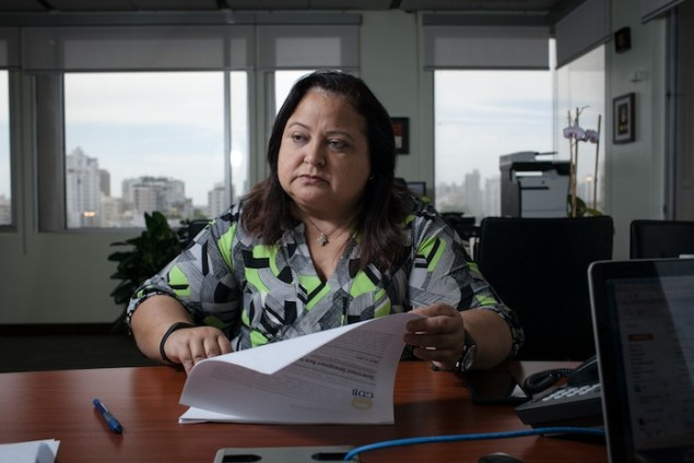 Melba Acosta, July 10, 2015 in meeting with CPI (CREDIT: ALBERTO BARTOLOMEI)