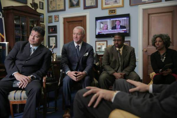 Alex Salazar at a White House discussion on police brutality
