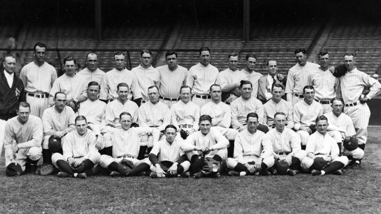 The New York Yankees in 1926, before they let blacks and Latinos play (Public Domain)