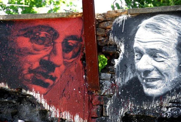 A mural in Paris featuring Guy Debord, founder of the Situationist International (thierry ehrmann/Flickr)