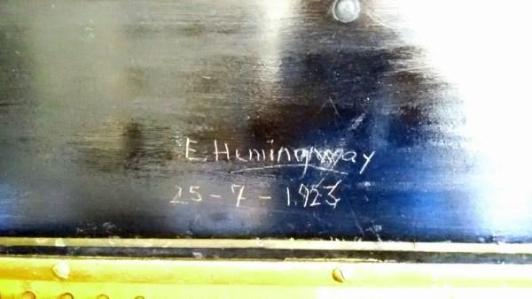 E. Hemingway 25-7-1923