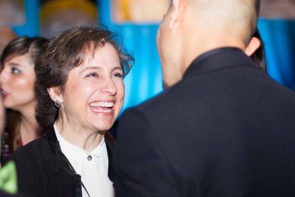 Carmen Aristegui at the 2015 National Association of Hispanic Journalists Awards Gala (Jeffrey Mercado)