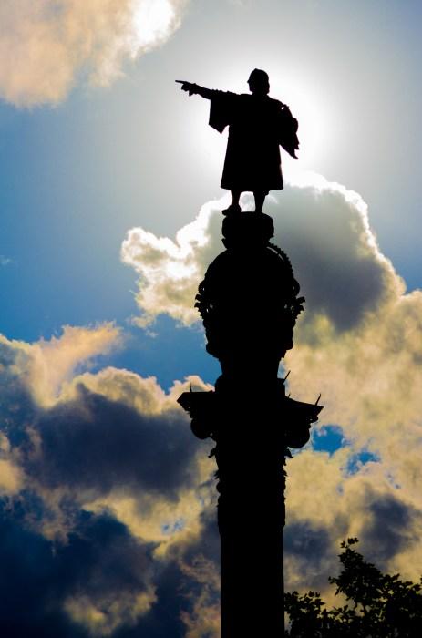 Statue of Cristóbal Colón in Barcelona, Spain (Andrew Moore/Flickr)