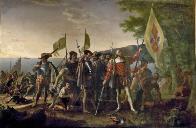 'Landing of Columbus' by John Vanderlyn (Public Domain)