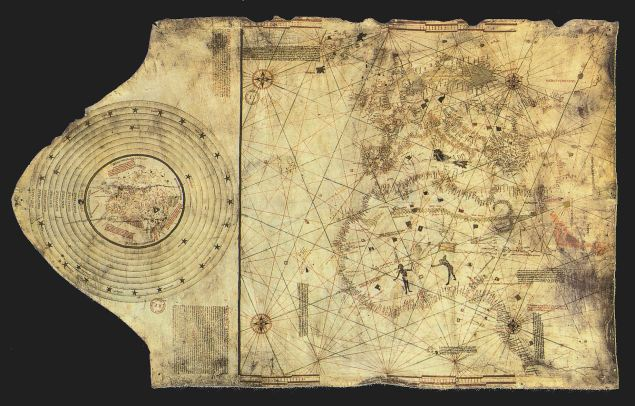 """Columbus map"", drawn c. 1490 in the Lisbon workshop of Bartolomeo and Christopher Columbus (Public Domain)"