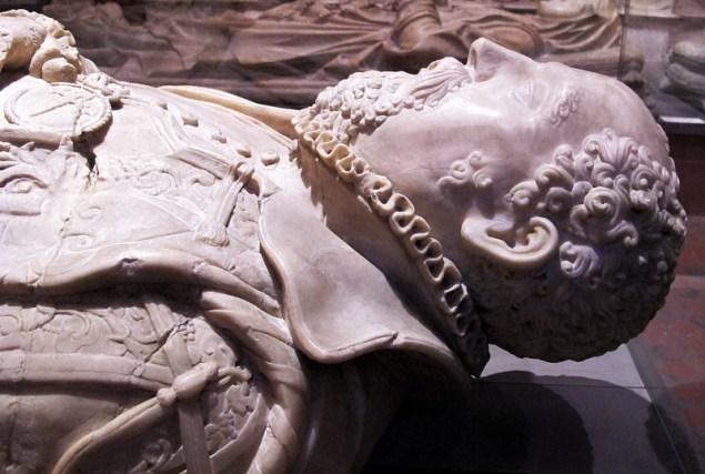 Don Suero de Quiñones's tomb in the church of San Francisco, León, Spain.
