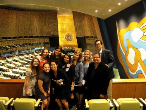 Assumption College students at UN