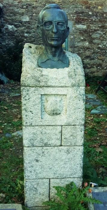 Monument to Don Elías Valiñas Sampedro in O Cebreiro, Galicia