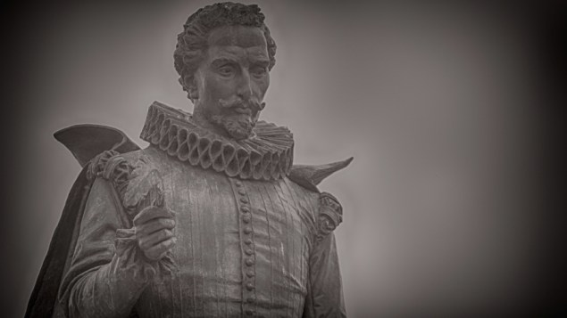 "A statue of Miguel de Cervantes, the author and playwright considered the father of modern Spanish. Spanish is often called ""the language of Cervantes."" (M. Peinado/Flickr)"
