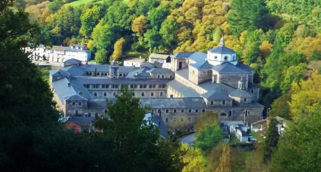 Monastery of San Xulián de Samos in Galicia, Spain