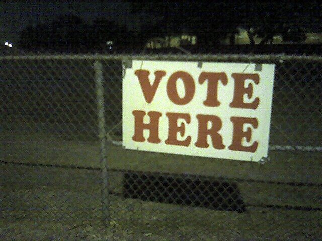Voting Sign in Austin, TX (Ben Combee)