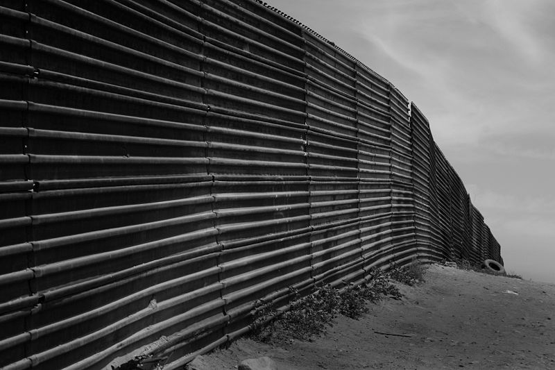 US-Mexico border at Tijuana, Baja Californi (Tomas Castelazo)