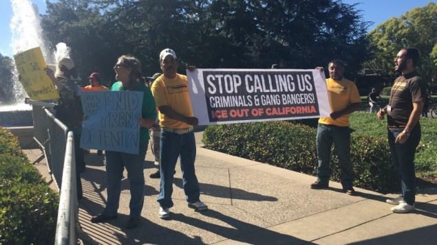 Protest against President Obama in Palo Alto, California