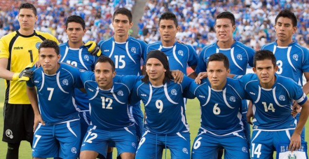 El Salvador's national soccer team, 2015 (Photo via CONCACAF)