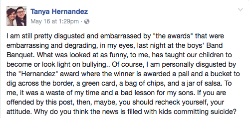Latina Mom Takes to Facebook to Slam Racist Alabama High School Band 'Hernandez' Award