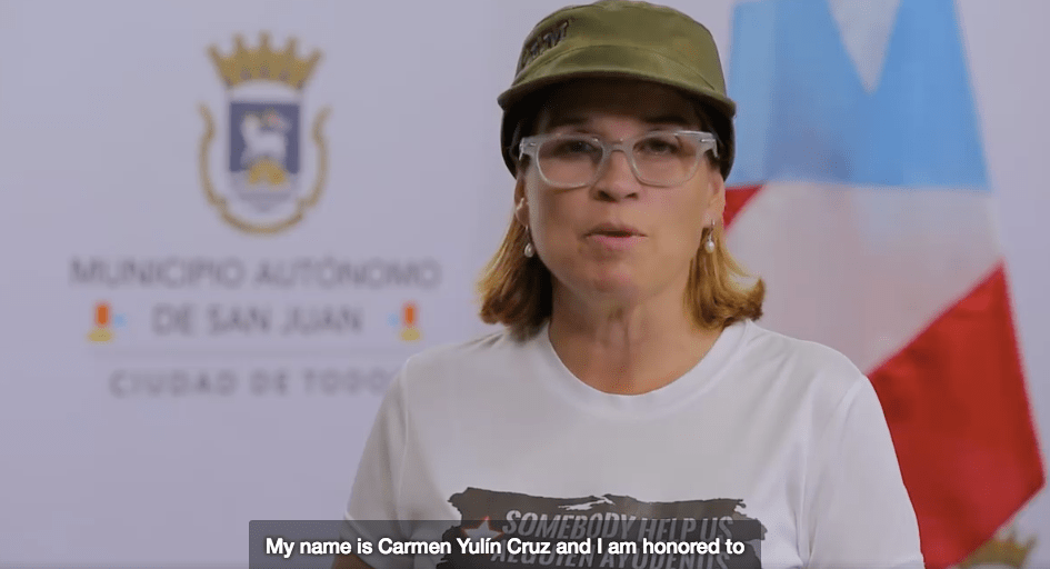 Watch San Juan Mayor Yulín Cruz's Message Two Months After Hurricane María