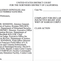 Bay Area Residents Stuck in Immigration Detention File Class Action Lawsuit Against Sessions