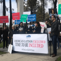 NHMC Pre-Oscars Protesters Demand Latinx Inclusion