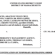 Judge Extends FEMA Aid for Hurricane María Evacuees, Pending Formal Hearing