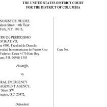 Legal and Journalistic Organizations Sue FEMA for Failing to Release Records on Hurricane María Relief Efforts