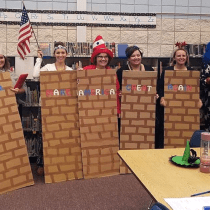 Idaho Elementary School Teachers Dress Up as Border Wall for Halloween