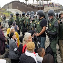 People of Faith Unite in Civil Disobedience With Migrant Caravan