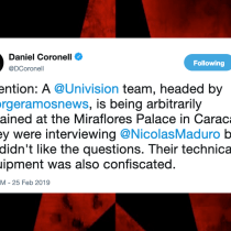 Univision Says That Journalist Jorge Ramos and Crew 'Arbitrarily Detained' Inside Venezuela's Miraflores Palace