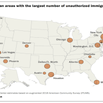 Pew: 61% of Country's Undocumented Population Lives in 20 Metro Areas