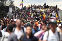 Colombia Protesters March in 3rd Strike Against President