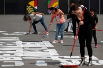 Mexican Women Paint Victim Names to Protest Gender Violence