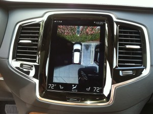 Center stack display with a 360 back-up camera view.