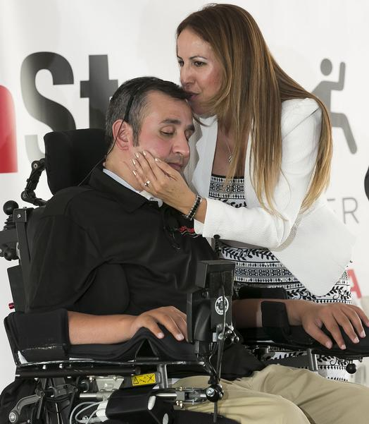 Romy and Gaby Camargo open the Stay In Step Spinal Cord Injury Recovery Center in Tampa, Fla., June 20, 2015.