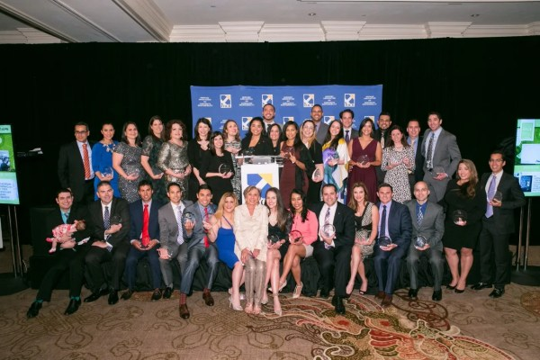 Alexandra Figueroa and Tony Argote were among 35 young professionals recognized nationally for their leadership by the Hispanic Association on Corporate Responsibility (HACR).