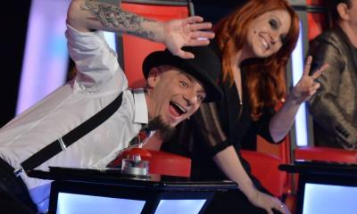 J-Ax e Noemi durante a Battle do TVOI