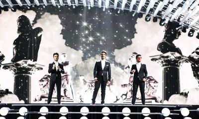 Veja fotos do primeiro ensaio do Il Volo no palco do Eurovision 2015
