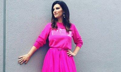 Laura Pausini pediu que os fãs desenhassem seu novo figurino