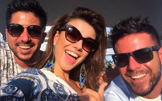 Pablo López se diverte com Paula Fernandes no Rio de Janeiro