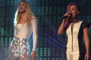 Demy representa a Grécia no Eurovision 2017. Poli Genova levou a bandeira da Bulgária em 2016.