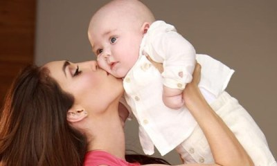 Anahi e o filho Manuel em foto publicada no Instagram