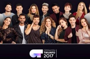 Os 18 concursantes do Operación Triunfo 2017