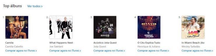 Camila Cabello lidera chart de álbuns no Brasil