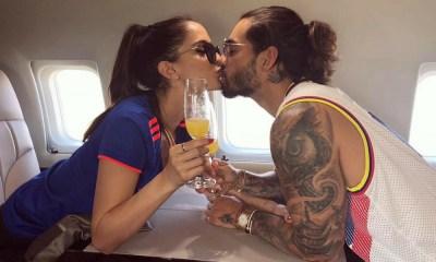 Maluma e a namorada Imagem: Instagram Natalia Barulich celebram aniversário do romance