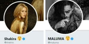 Shakira e Maluma no Twitter