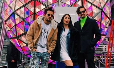 Lali e Mau y Ricky cantaram na festa de ano novo na Times Square