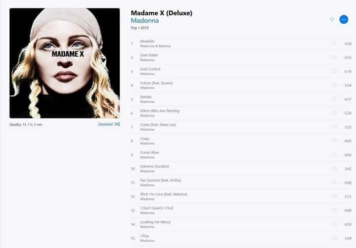 Print do novo disco da Madonna