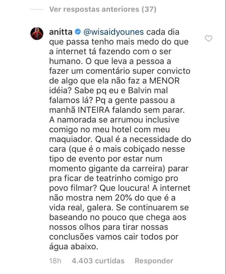 Reprodução do Instagram / Anitta