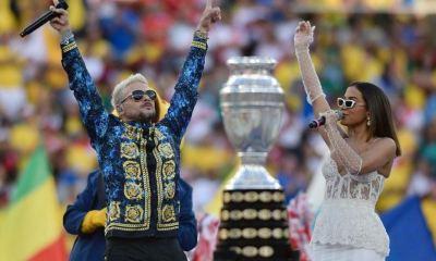 Pedro Capó e Anitta esquentaram a final da Copa América 2019
