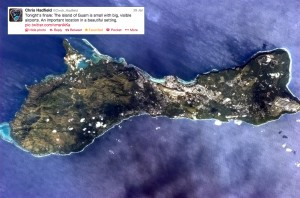 Guam from space